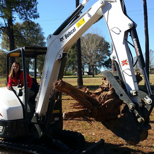 Cleaning up trees? Let our excavator do the heavy lifting.  DeRidderRentals.com  #deridder #leesville #rosepine #fortpolk #deridderrentals