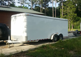 Enclosed Trailer for rent - 20ft Tandem Axle Bumper Pull Trailer