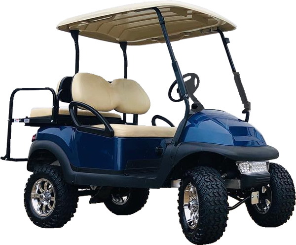 Golf Cart Rental - Club Car with 6 Inch Lift
