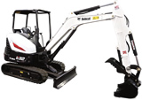 Mini Excavator Rental - 7000lbs Bobcat E32