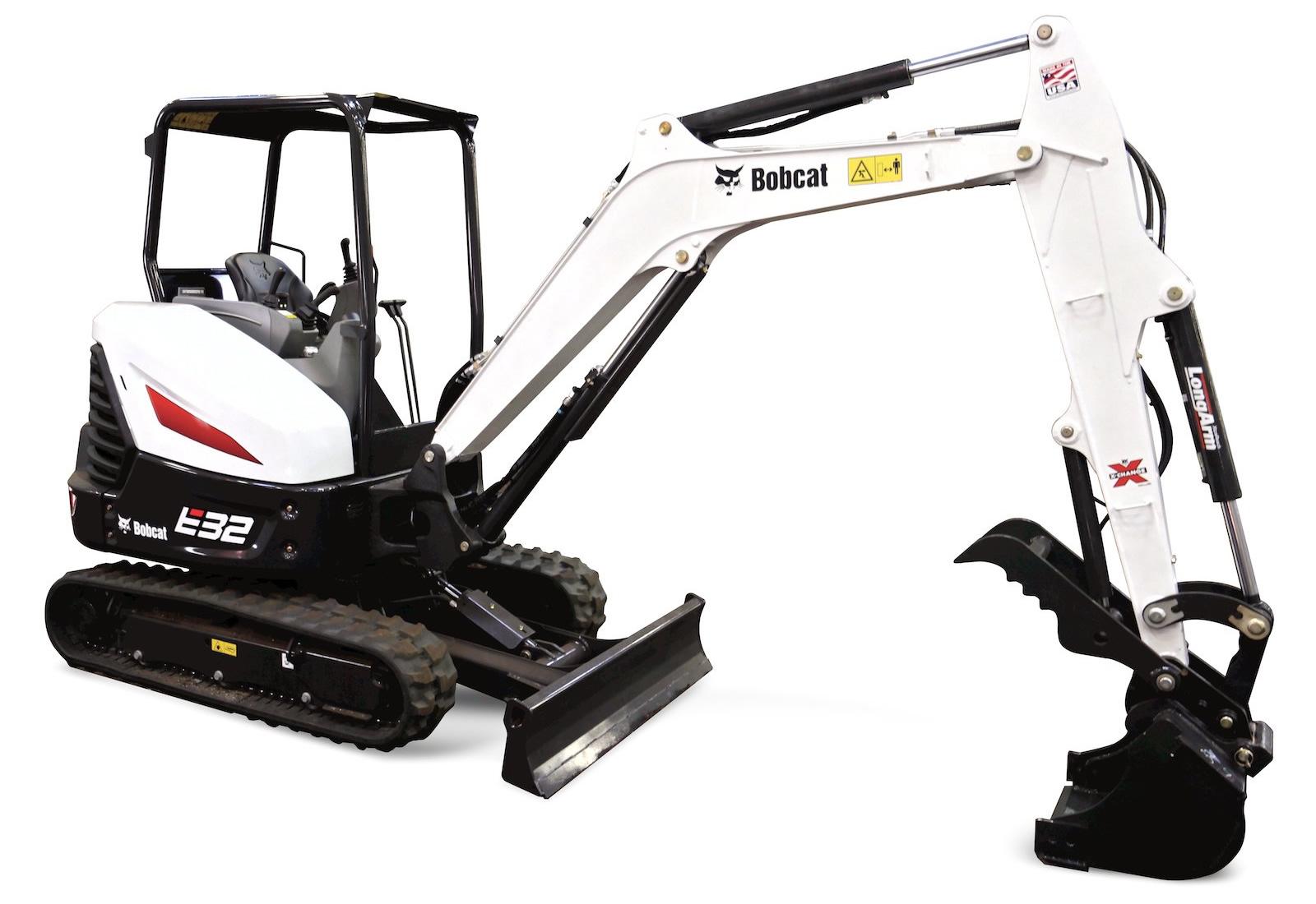 Mini Excavator Rental - 7000lbs Bobcat E32