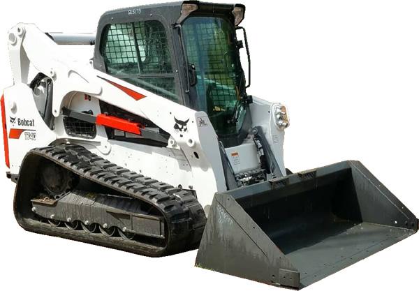 Track Loader Skid Steer Rental with Material Bucket