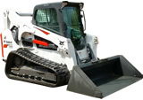 Track Loader Skid Steer Rental with Material Bucket